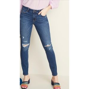Uniqlo ultra stretch distressed skinny jeans